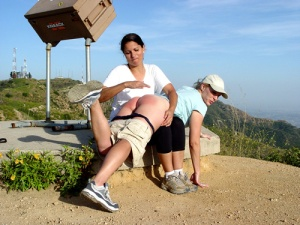 chelsea-spanks-pixie-outdoors-california