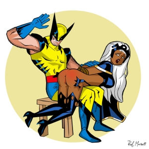 x-men_wolverine_spanks_storm_marinetti