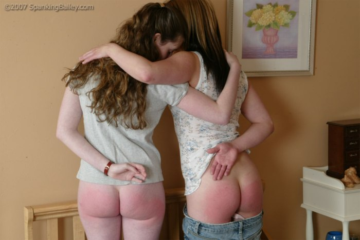 Two-Girls-Comforting-Eachother-in-Corner-Time